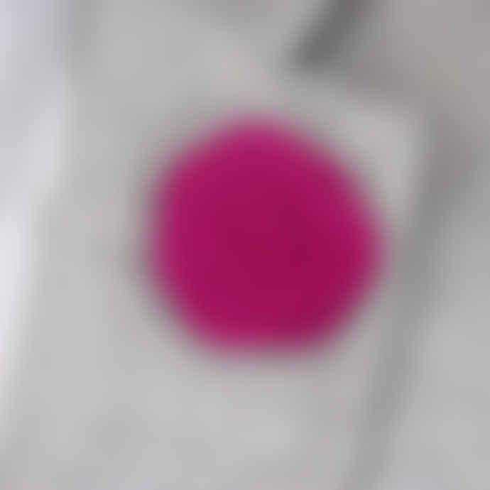 Woven Menswear Fuchsia Felt Flower Lapel Pin