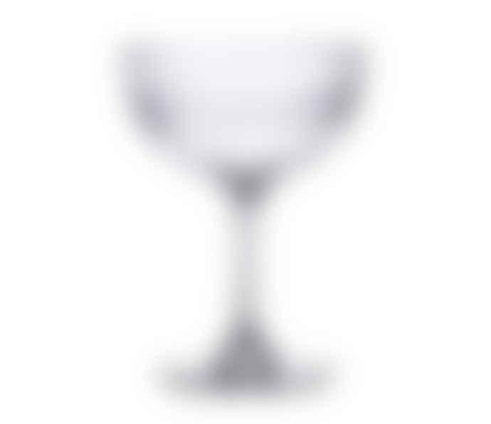 The Vintage List Set Of 2 Oval Vintage Champagne Saucer Glasses