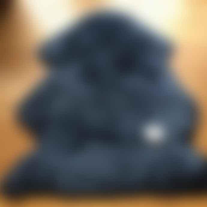Hanlin Large Dark Navy Silky Sheepskin Rug