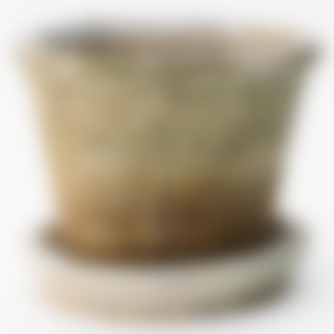 Grand Illusions Whitestone Pot and Saucer