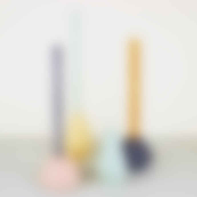Korridor Design Lemon Coloured Concrete Geometric Candle Holder