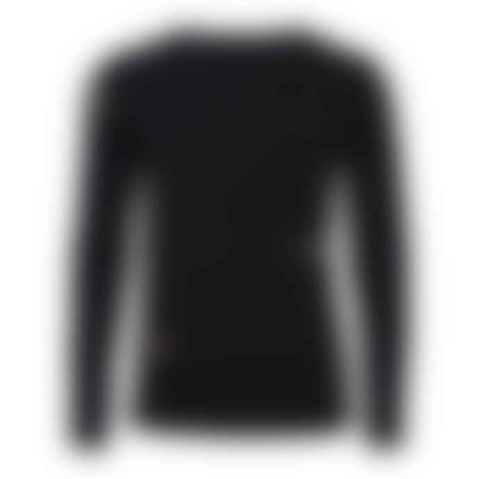 Ingmarson Black Long Sleeved Bee Embroidered Top