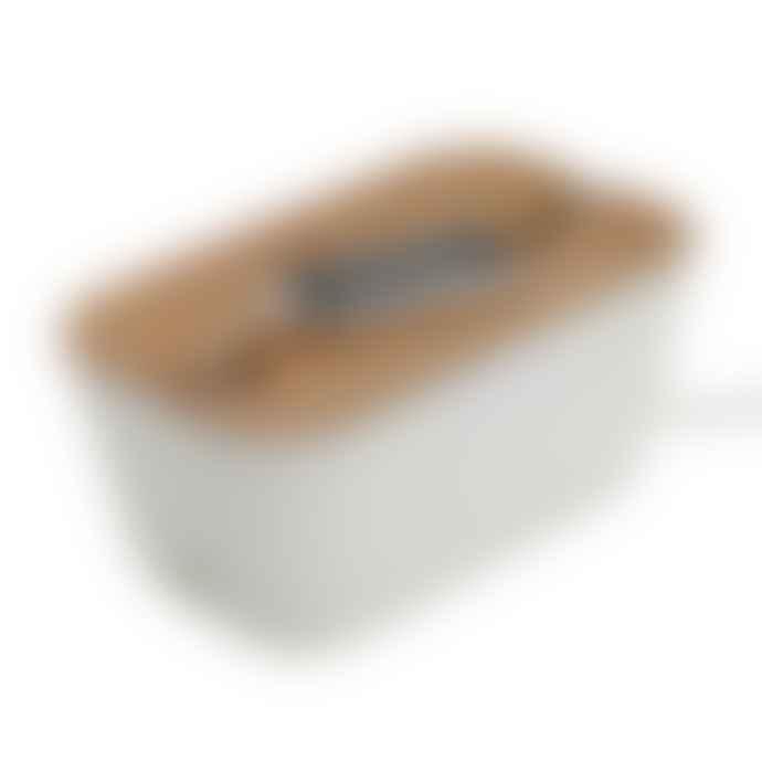 Bosign Medium Hideaway Cable Tidy Organisor in White & Natural