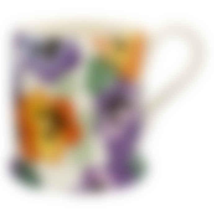 Emma Bridgewater 1/2 Pint Purple Pansy Mug