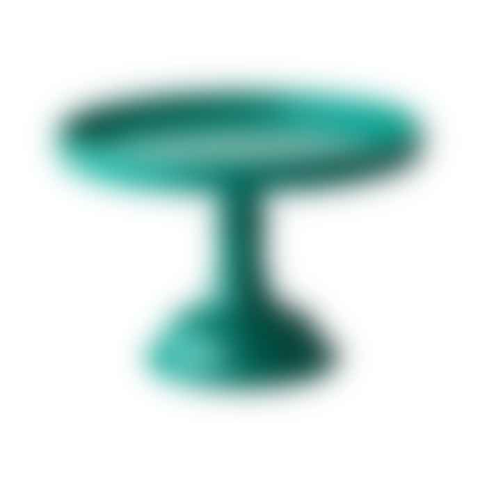 Rice D K  Extra Small Green Melamine Cake Stand