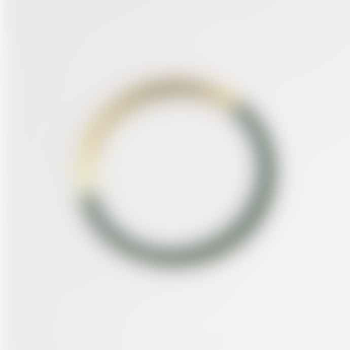 Tom Pigeon  Brass Forest Form Circle Bangle