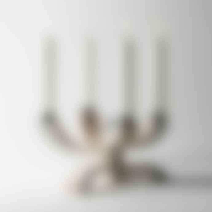 Design House Stockholm  White Nordic Light Candle Holder