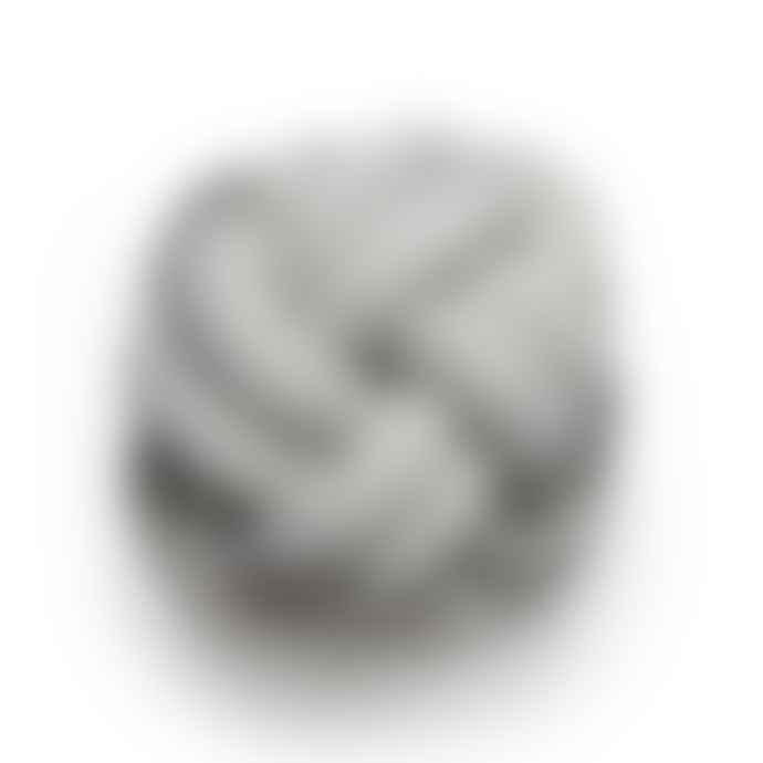 Design House Stockholm  White Grey Knot Cushion