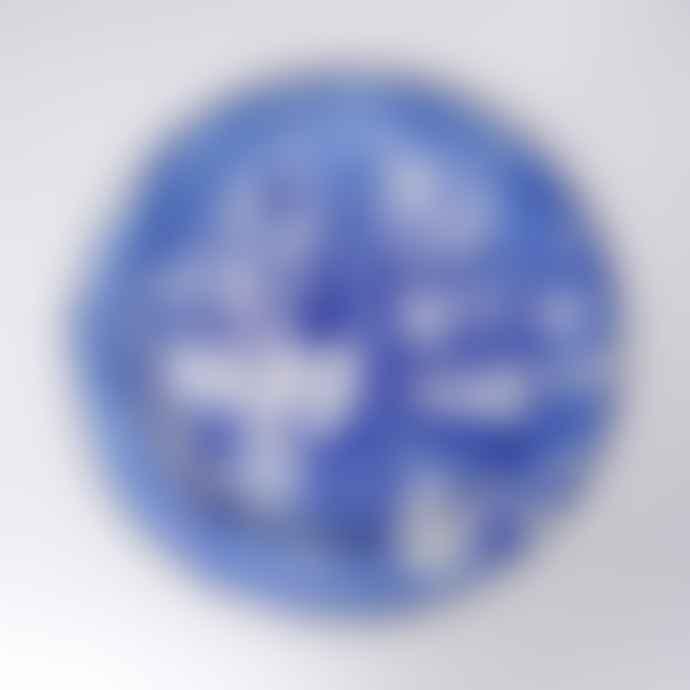Bornn Blue Swirl Marble Dinner Plate