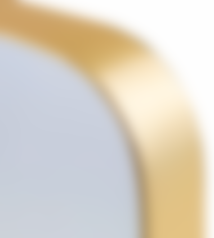 The Restoration Gold Small Arden Mirror