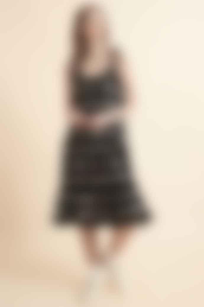 Lowie Ikat Strappy Ruffle Dress