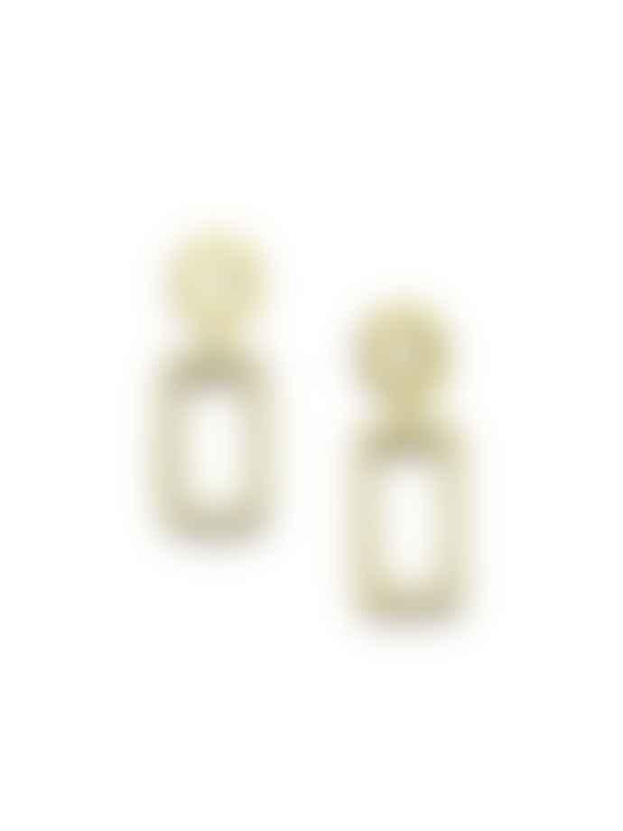 Wolf & Moon Ellsworth Drop Earrings In Brass