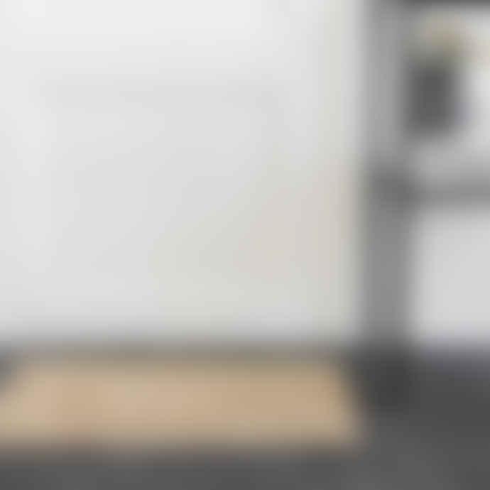House Doctor Braided Hemp Rug, 50 x 70 cm