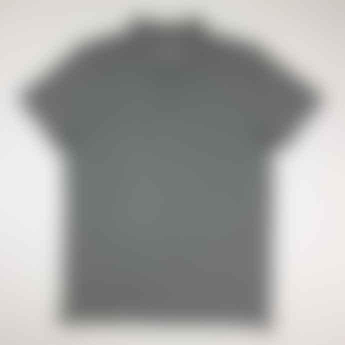 Born  Heather Grey Essentials Organic Cotton Polo Shirt