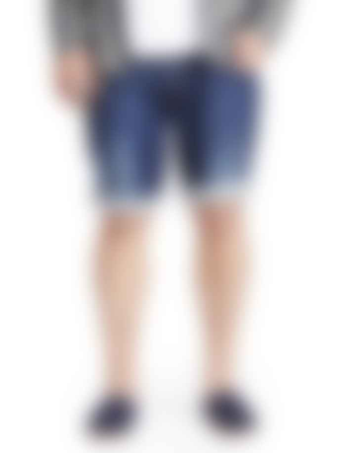 Makia Clothing Blue Washed Denim Shorts