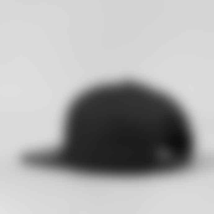 Black Pug Black Heart Snapback Cap