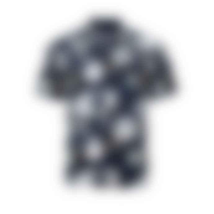 Bellfield Navy Hadrian S S Shirt