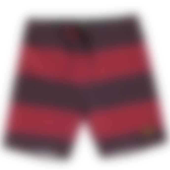 Dark Seas  Brown Red Blackwall Board Short