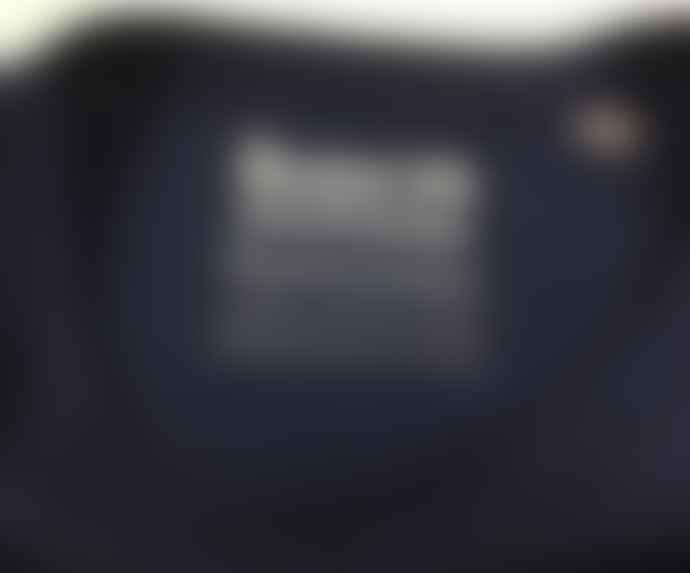 Born Navy White Essentials Logo Organic Cotton S S Tee Shirt