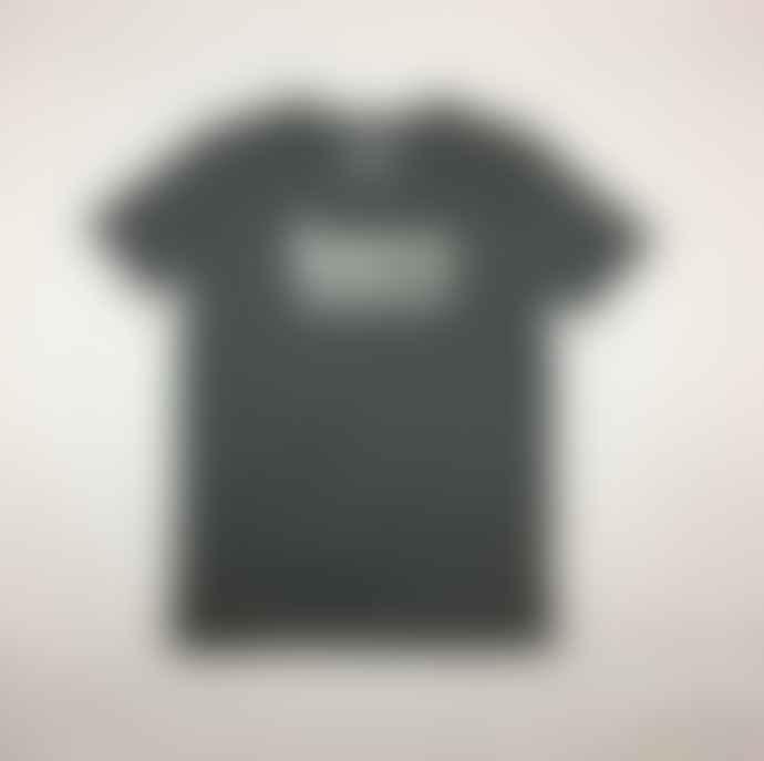 Born Heather Steel Grey White Essentials Logo Organic Cotton S S Tee Shirt