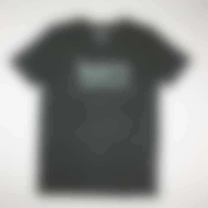 Born Heather Steel Grey Essentials Logo Organic Cotton S S Tee Shirt