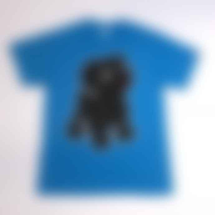 Black Pug Blue Heather Neon Rocky Tee