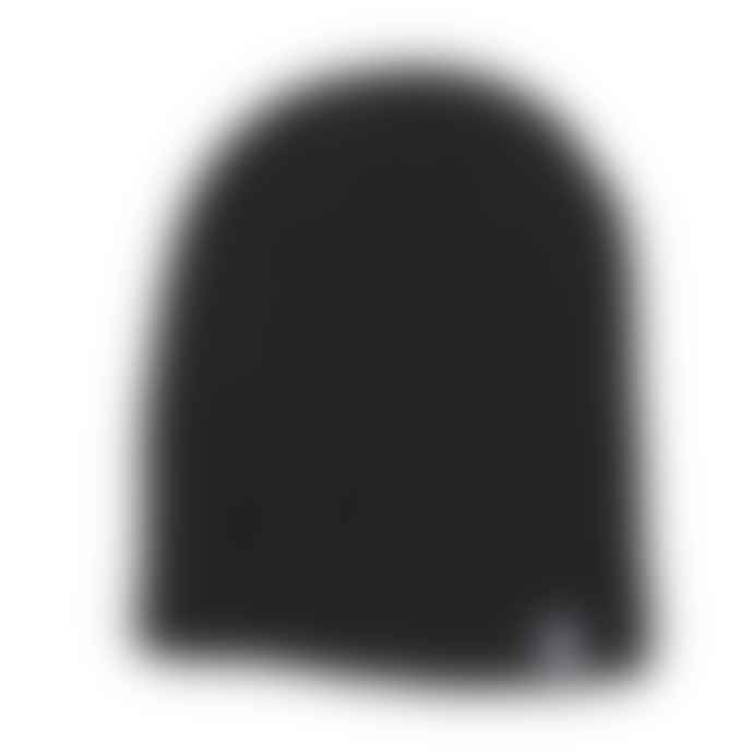 Black Pug Ribbed Beanie