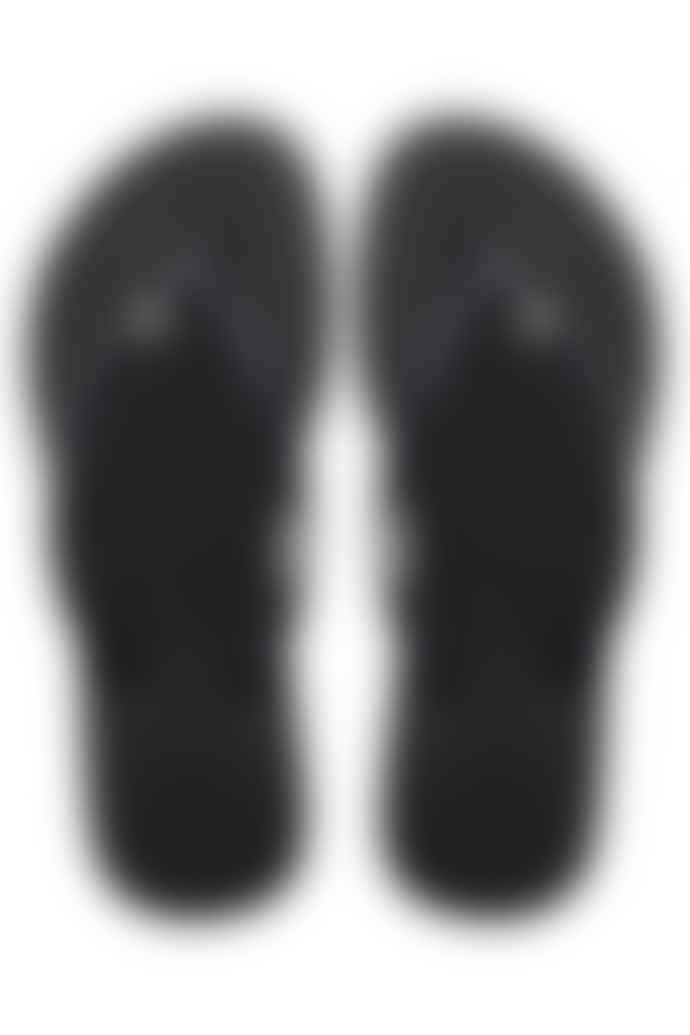 Havaianas In Black Slim Crystal Flip Flops