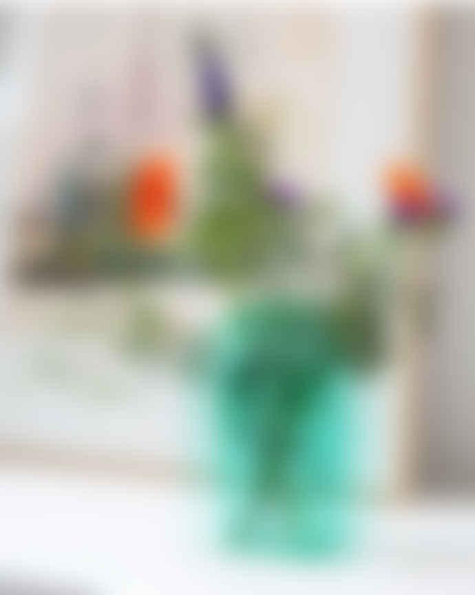 &klevering Green Glass Arch Vase