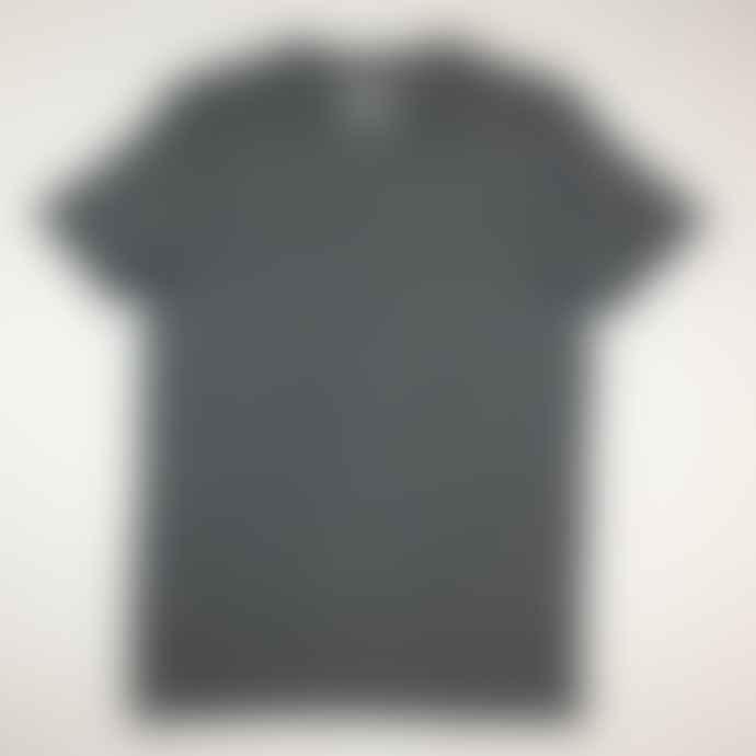 Born  Navy Essentials Organic Cotton Micro Stripe T Shirt