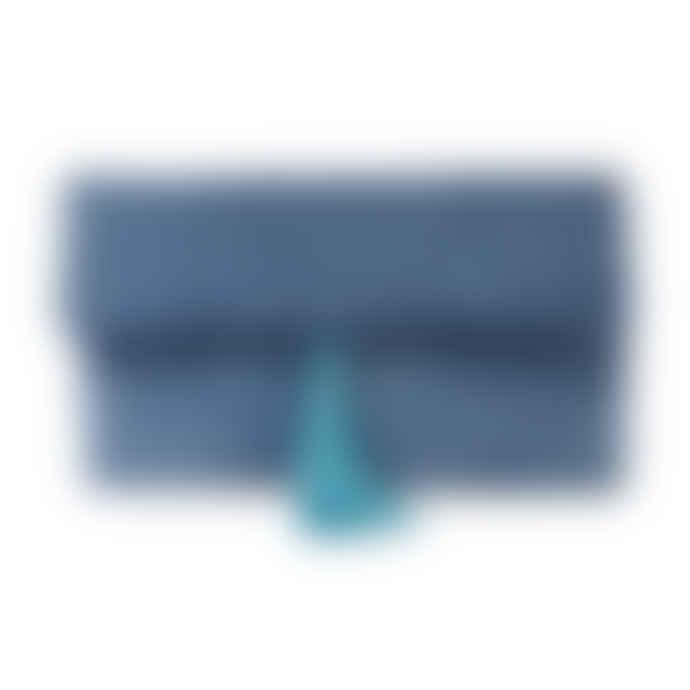 Light Blue  Velvet Clutch Bag