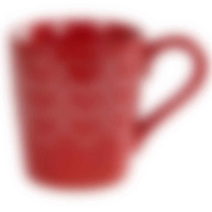 Sylvie Thiriez Red Heart Detail Make A Wish Pottery Mug