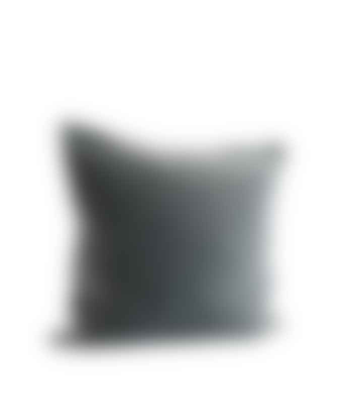Madam Stoltz Velvet Cushion in Blue/Grey