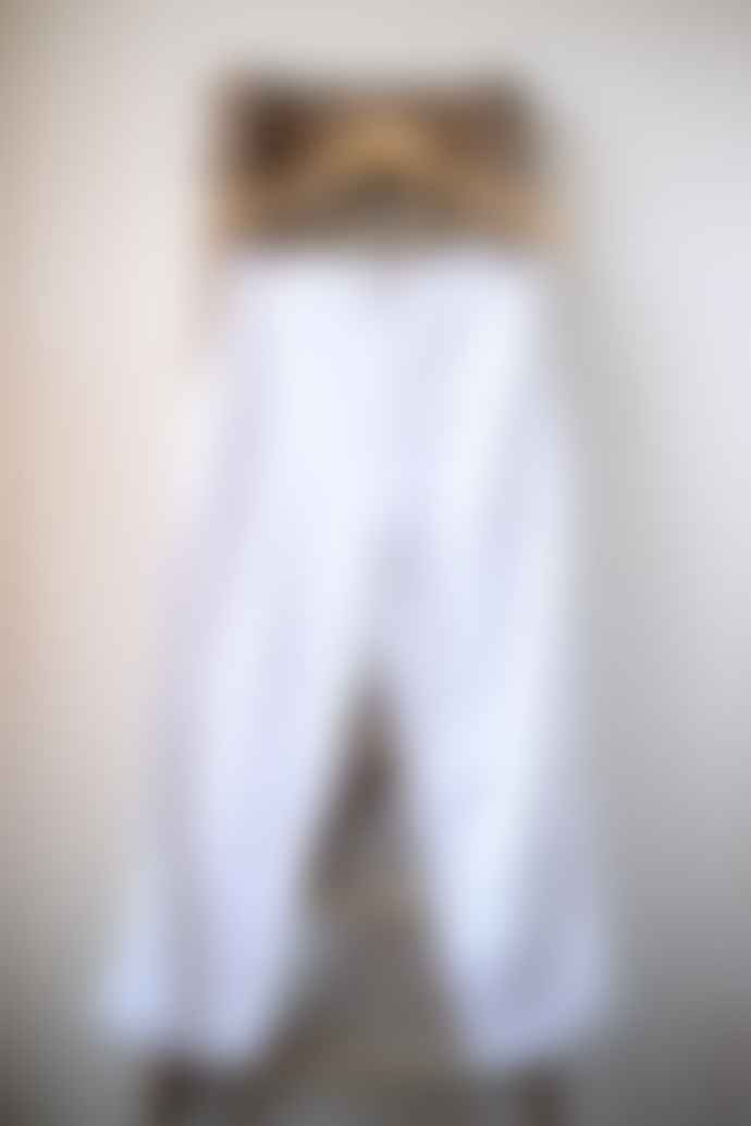 Bellerose White Plaf Wide Crop Trousers