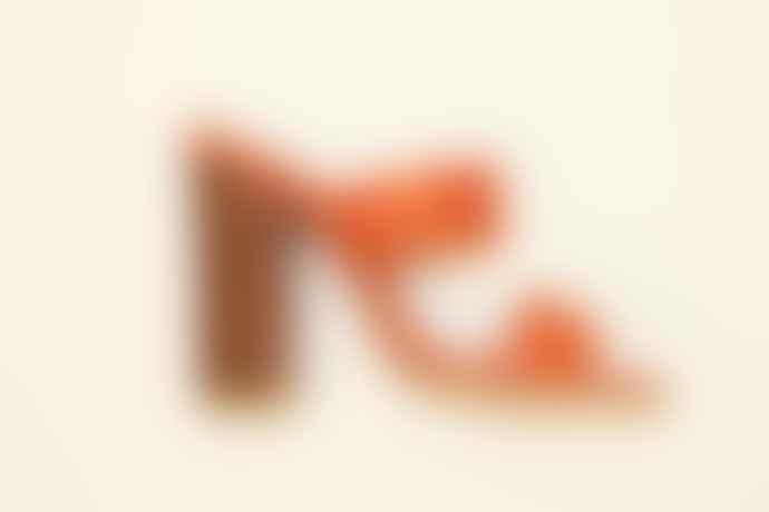 Collection & Co Orange Louri Heeled Mules