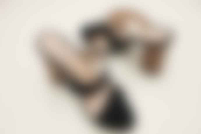 Collection & Co Black Louri Heeled Mules