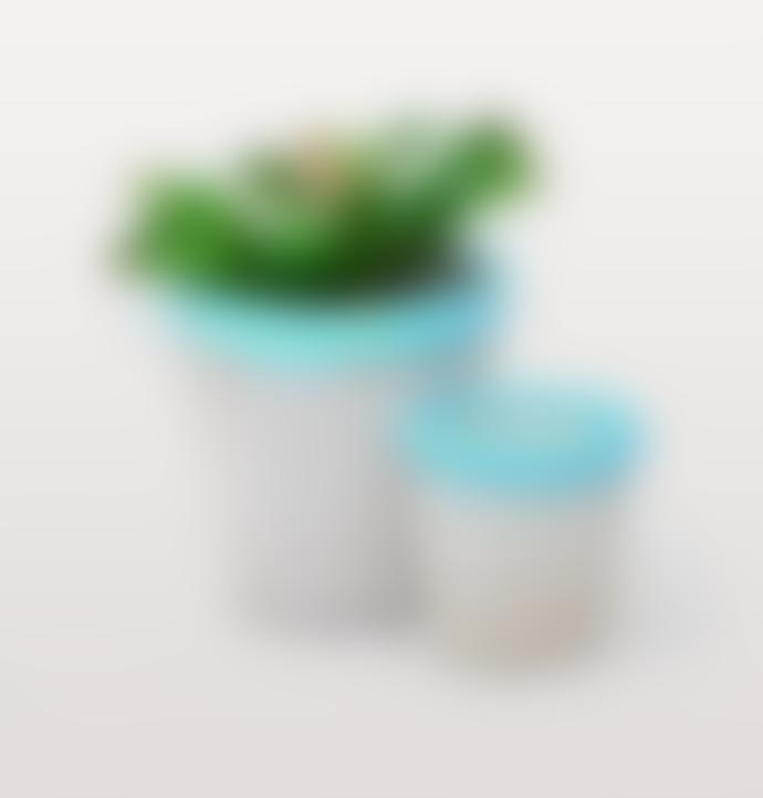 W.A.Green X Concrete Candy Xl Blue Terrazzo Plant Pots