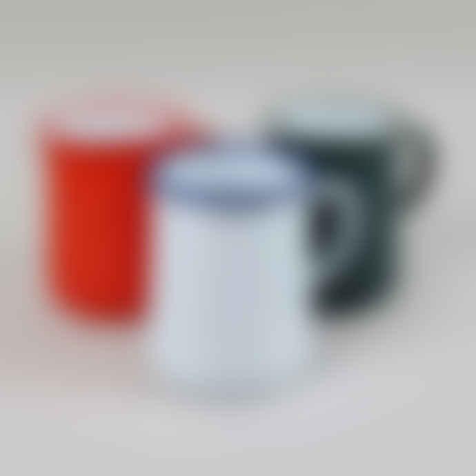 Falcon Enamelware 1 Pint Pillarbox Red Enamel Jug