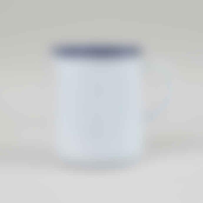 Falcon Enamelware 1 Pint White with Blue Trim Enamel Jug