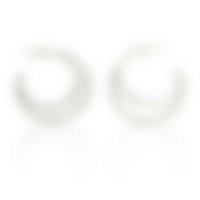 CollardManson Silver 925 Double Circle Crescent Earrings