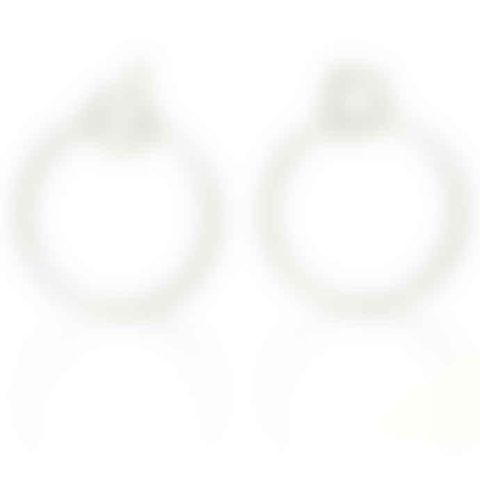 CollardManson Silver 925  Double Circle Hoop Earrings