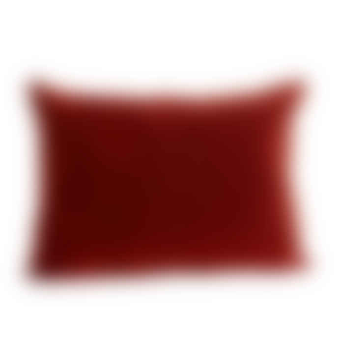 Mink Interiors  Velvet Cushion - Red Earth (with luxury feather inner)