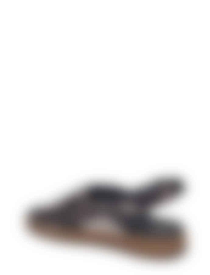 Woden Gunmetal Sille Metallic Sandal