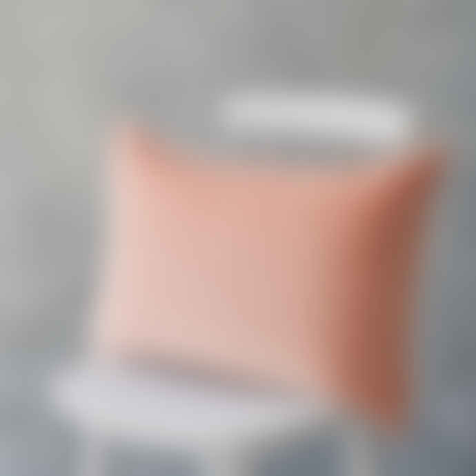 The Hackney Draper Long Pink Velvet Cushion