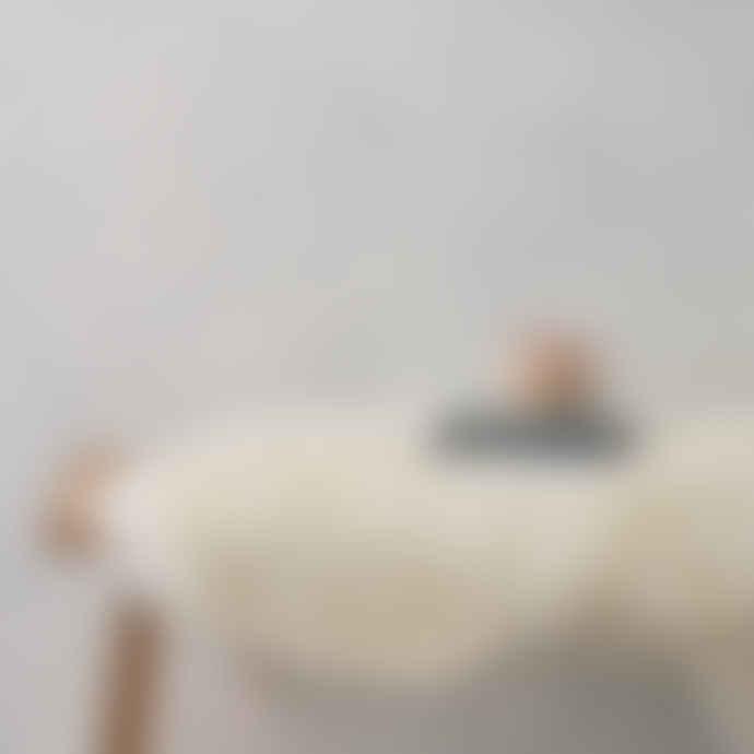 The Hackney Draper Medium Ivory Sheepskin Rug