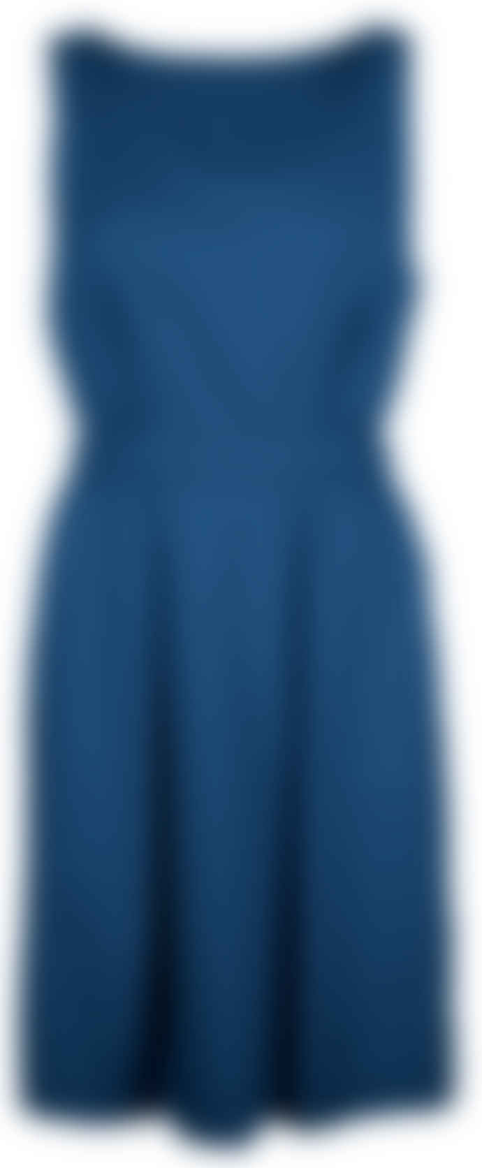 Format HEAT Dark Blue Plain Dress