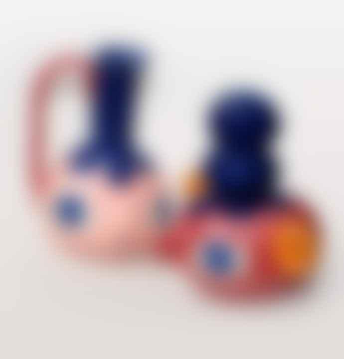 Fredde Lanka Red Double Top Knot Vase