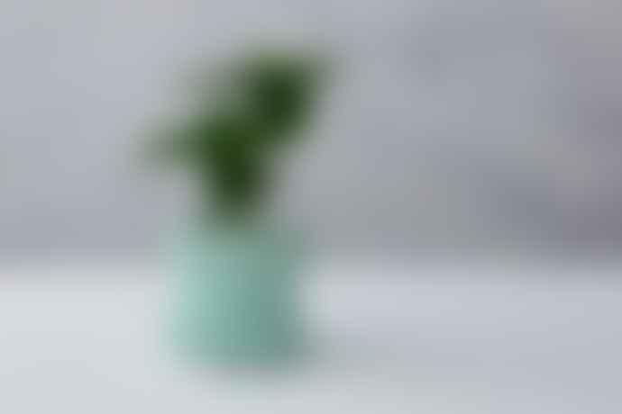 Chive Mini Soft Blue Ceramic Planter