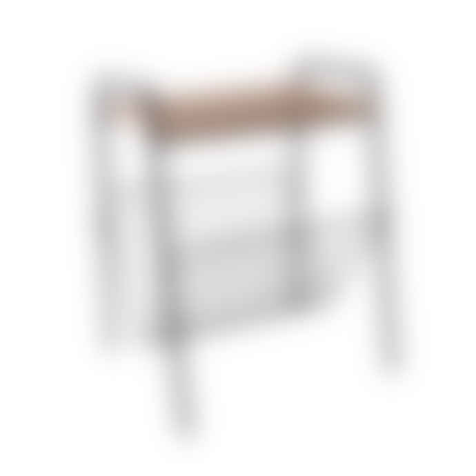 Present Time Black Wire Side Table With Magazine Rack