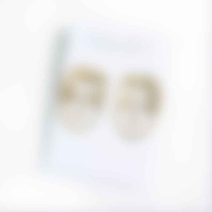 lima-lima Gold Face Stud Earrings